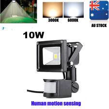 LED Flood Light 10W PIR Motion Sensor Building Landscape Security Spot Square AU