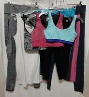Bulk Lot of Women's Clothing Size 14 Mixed Items Activewear Sports Bras/Leggings
