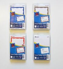 400 AVERY DENNISON BORDER BADGES NAME TAGS ID LABELS ADHESIVE MIXED COLORS