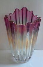 IRIDESCENT CARNIVAL ART GLASS VASE