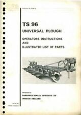 RANSOMES UNIVERSAL PLOUGH TS 96 OPERATORS MANUAL & ILLUSTRATED PARTS