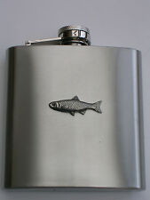 CHUB FISH FISHING  BRAND NEW 6OZ STAINLESS STEEL HIP FLASK great gift!!