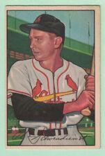 """1952 BOWMAN #30, Al """"Red"""" Schoendienst, St. Louis Cardinals, EX"""