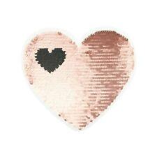 Wendepailletten Patches Aufnäher Pailletten Applikation Herz