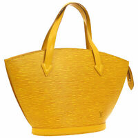 LOUIS VUITTON SAINT JACQUES HAND BAG YELLOW EPI M52279 VI0915 PURSE AK38236f