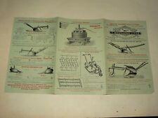 Prospectus Agricole Vigne Charrue Bouilloux Tracteur Traktor Prospekt Brochure