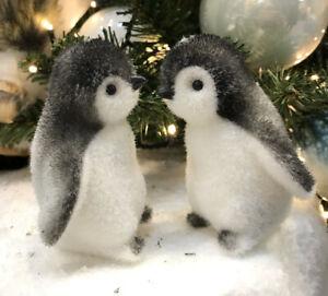 6 x Penguin Christmas Tree Hanging Decoration Christmas Baubles 9cm