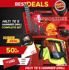 Hilti Te 5 Hammer Drill Preowned Free Hilti Bag Free Extras Fast Ship