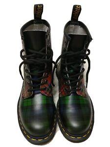 Dr Martens Tartan Women Size 6 Multicolor Combat Ankle boots