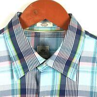 Peter Millar Men's Long Sleeve Plaid Button Up Shirt Size Medium EUC