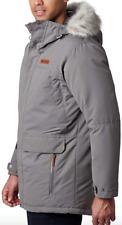 Columbia South Canyon Long Down Parka Mens Big 3X Gray Waterproof Winter Jacket