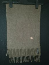 Brown Burberry Wool Scarf