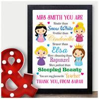 Personalised Teacher Gift Present Thank You Nursery Preschool Childminder Gifts