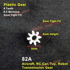 Motor Main 2mm Shaft 8T Plastic Gear 8 Teeth 0.5 Module for RC Drone Toy Model