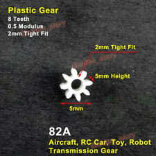 Motor Main 2mm Shaft 8T Plastic Gear 8 Teeth 0.5 Module for RC Drone Toy Model