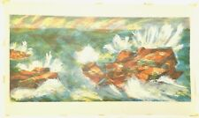"""R. FREEMAN WORTHLEY """"SEA"""", SERIGRAPH Limited Ed/50 - PENCIL SIGNED by Artist"""