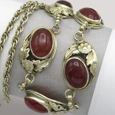 Vintage Arts & Crafts Bernard Instone Sterling Silver Natural Carnelian Necklace