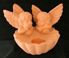 Partylite - Engel Wand- oder Stand - Teelichthalter / terracotta