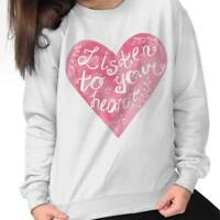 Listen To Your Heart Romantic Valentines Day Sweat Shirt Sweatshirt For Womens