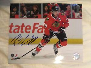 PATRICK SHARP Autographed 8x10 Action Photo Chicago Blackhawks NHL Hockey
