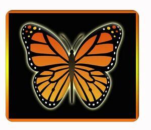 Custom orange butterfly black computer, laptop,iPad,  mouse pad