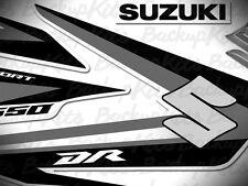 Suzuki DR650 decals 2011 black grey stickers graphic kit