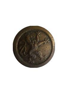 ANCIEN BOUTON LION HERALDIQUE COURONNÉ 1914/18 D=20mm LOT 3