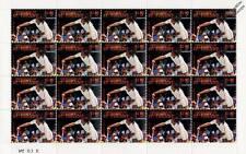 ILIE NASTASE 20-Stamp Sheet (WIMBLEDON TENNIS Championships Player)