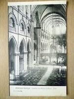 Postcard- INTERIEUR DE I'EGLISE ST PIERRE JUBE, AIRE SUR LA LYS, FRANCE