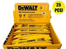 "(25) DEWALT 6"" RECIPROCATING SAWZALL SAW BLADES 10TPI BI METAL DW4806 DW4806B"