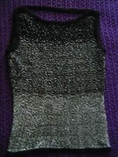 H&M Hennes smart silver glittery top work formal size XS good condition