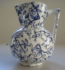 Vintage Blue White Ceramic Pitcher