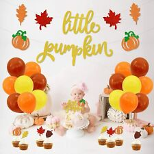 Little Pumpkin Party Decorations for Fall Baby Shower, Birthday Party Supplies