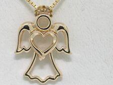 Brillant Anhänger 585 Gelbgold 14Kt Gold Engel Herz Frieden 7 Brillanten