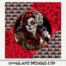 Sugar Skull, Skull n roses - Fabric Cushion Upholstery Craft Panel | Sewing