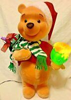 "Rare! Vintage 22"" Telco Motion-ette Winnie The Pooh Santa Christmas Disney 1997"