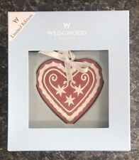 Wedgwood Jasperware Limited Edition Red & White Heart Ornament w/ Box Excellent