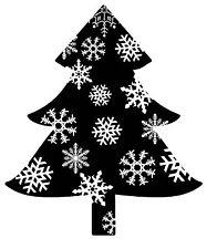 Non montés Rubber Stamps flocon de neige Tree Silhouette Tree-SA-7055