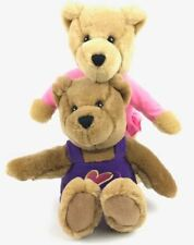 "Hallmark Love & Kiss Kiss Bears Plush 10"" Magnetic Noses Set of 2 Boy and Girl"