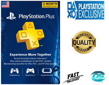 PlayStation Plus 3 Month (90 Days) PSN Network Card - US Store PS3/PS4/PSvita