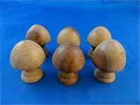 SET OF 6 CLASSIC VICTORIAN STYLE CHEST OF DRAWERS KNOBS HARDWOOD DRAWER KNOB SK1