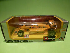 BBURAGO 1:24  -  LOTUS HONDA TURBO - DE LONGHI  6107 - F1 - IN GOOD CONDITION