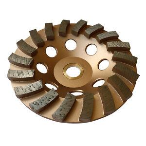 "5"" Concrete Grinding Cup Wheels 18 Diamond Abrasive Seg 7/8""-5/8"" Arbor"