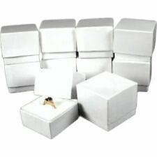 10 Ring Boxes White Gift Jewelry Displays Showcases