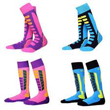 4 Pairs Kids Boys Girls Warm Skiing Snowboard Hiking Walking Socks Stockings