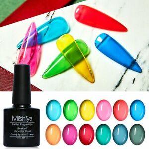 Soak Off Varnish Glass Nail Gel Jelly UV Gel Hybrid Semi Permanent Nail Polish