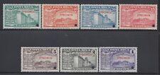 COSTA RICA (G2215) UNIVERSITY MENA SA74-SA80 OVERPRINT SPECIMEN w/HOLE MNH 1941