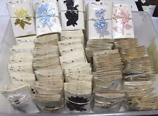 WHOLESALE Box of 325 Vintage Sew-On Beaded Flower Appliques, 52¢ Each!