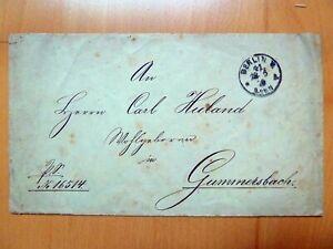DR 1879 - Dienstumschlag, KAISERLICH DEUTSCHES GENERALPOSTAMT BERLIN 21