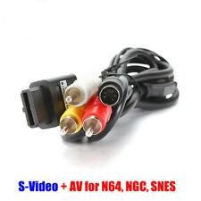 1.8M AV S-Video Composite Cable Cord for Super Nintendo SNES GameCube NGC N64 WF